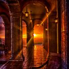 Hacienda Sunset in HDR by peaceofthenorth