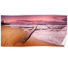 Austinmer pools sunset Poster