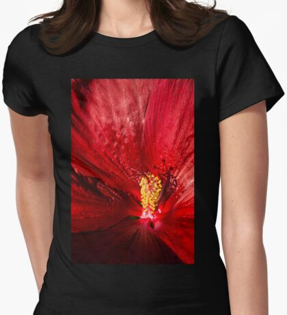 Passionate Ruby Silk Womens Fitted T-Shirt
