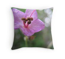 Glossy-eyed Flower Throw Pillow