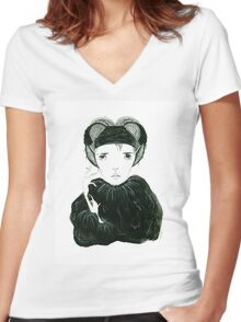 Елена Women's Fitted V-Neck T-Shirt