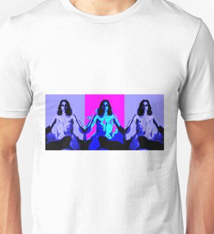 Triple Panel Male Youth Shirtless Unisex T-Shirt