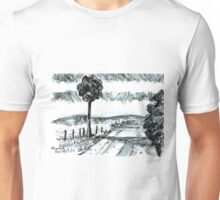 Pen-and-ink landscape Unisex T-Shirt