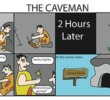 Cavemen fire by mreggrolls