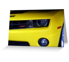 Yellow Camero Greeting Card
