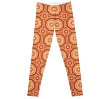 Octagon Orange  Leggings