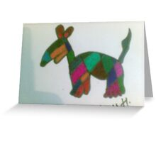 dog fun pattern  Greeting Card