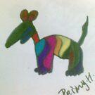 dog fun stripes by briony heath