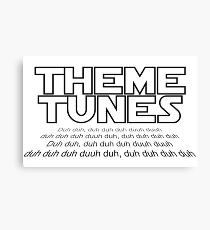 Theme tunes Canvas Print