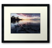 Pink and Gray Placidity - Morning Zen on the Lake Framed Print
