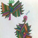 two birds with stripes by briony heath