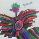 bird with interesting stripes by briony heath