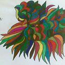 funny leaf pattern by briony heath