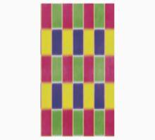 Bright Blocks checkered  One Piece - Long Sleeve