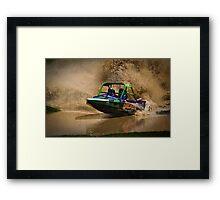 """Grumpy"" - V8 Jetboat Framed Print"