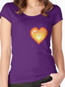Mystery Skulls 'Ghost' - Heart Women's Fitted Scoop T-Shirt