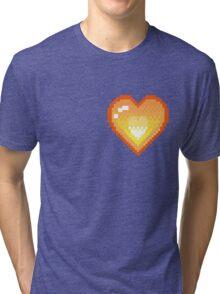 Mystery Skulls 'Ghost' - Heart Tri-blend T-Shirt