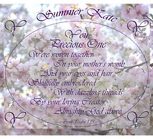 Psalm 139 You Precious One for Summer Kate Using Warp Text  by bronspst