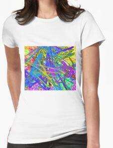 Crazy colours  Womens Fitted T-Shirt