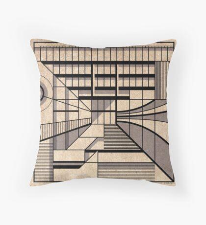 Birmingham Central Library Throw Pillow