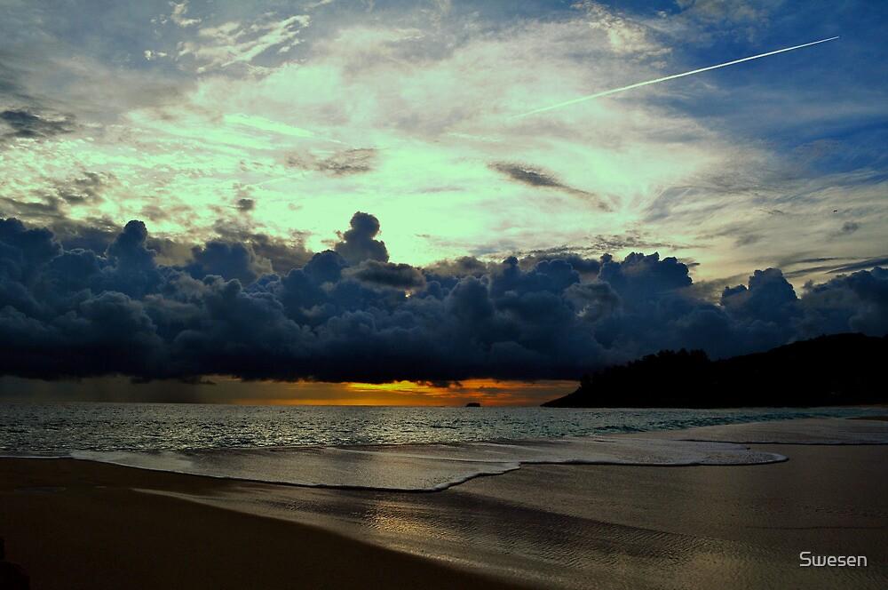 Dramatic Sunset on Intendance Beach by Swesen