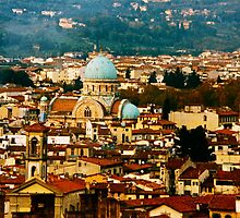 Ancient Synagogue In Florence Italy by Ronald Rockman