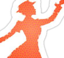 Pattern Miss Poppins  Sticker