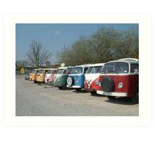 VW line up Art Print