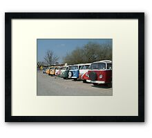 VW line up Framed Print