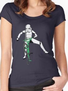 stormtrooper on a bike Women's Fitted Scoop T-Shirt