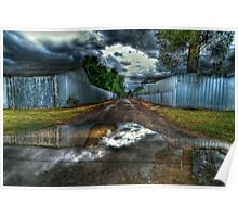 Puddlesky: backstreets of Bourke, NSW Poster