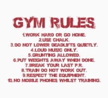 Gym rules by starsandguitars