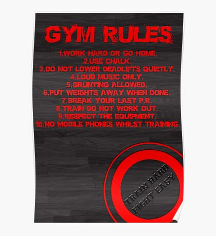Gym rules Poster