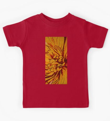 Imagination in Bold Yellows, Reds and Oranges Kids Tee