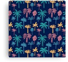Tropical Palm Tree Pattern Canvas Print