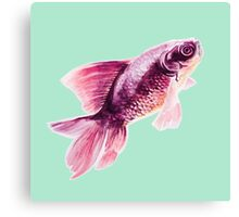 Magneta Fish on Mint  Canvas Print