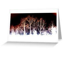 BURNED TREES Greeting Card