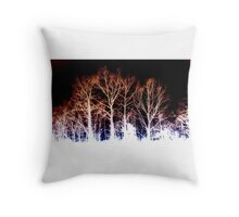 BURNED TREES Throw Pillow