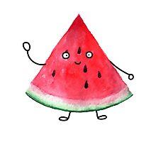 Super friendly watermelon Photographic Print