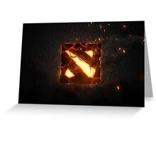 Dota 2 logo Greeting Card