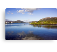 View Over Plockton Harbour Canvas Print