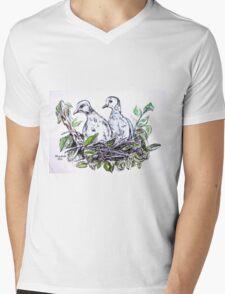 Two doves Mens V-Neck T-Shirt