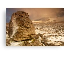 Ingleborough from Scales Moor, Ingleton, Ribblesdale, Yorkshire Dales Canvas Print