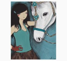 Woman with her pet horse One Piece - Short Sleeve