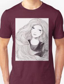 Catching A Moment Fashion Illustration Portrait Unisex T-Shirt