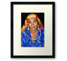 Old Lady from Rajasthan Framed Print