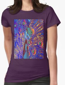 Peacock Womens Fitted T-Shirt