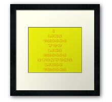 Everyone likes cheese  Framed Print