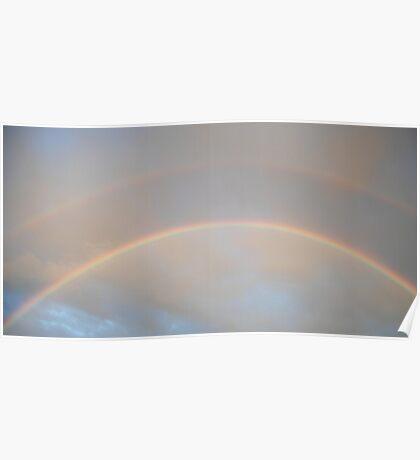 Double rainbow over Tweed Poster