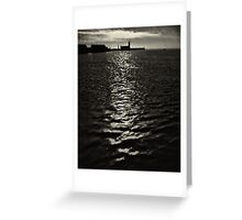On a skipping stone, I follow my path of light Greeting Card